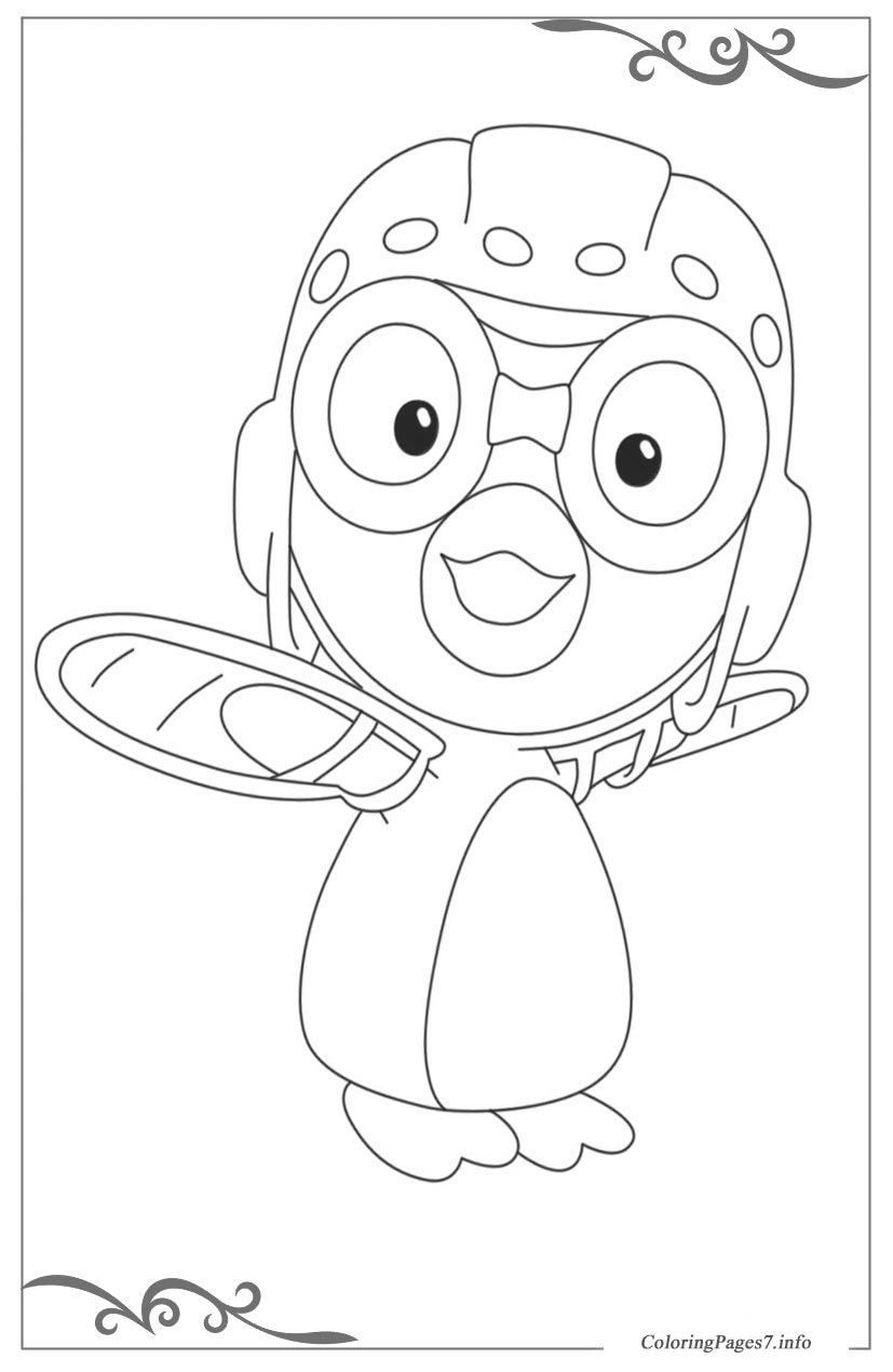 Pororo the little penguin coloring pages for children for Pororo coloring pages