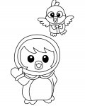 Pororo the Little Penguin Coloring Pages for boys