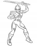 Power Rangers Coloring page template printing