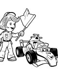 Roary the Racing Car Сoloring pages for girls