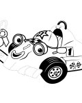 Roary the Racing Car Printable Tracing Coloring Page