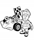 Roary the Racing Car Coloring Pages for Kids