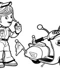 Roary the Racing Car Free coloring pages for boys