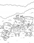 Rugrats Coloring page template printing