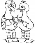 Sesame Street Printable coloring pages for girls