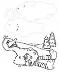 Sesame Street Printable Tracing Coloring Page