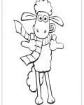 Shaun the sheep Сoloring pages for girls