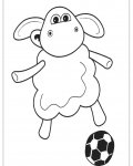 Shaun the sheep Printable coloring pages for girls