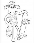 Shaun the sheep Online Coloring Pages for girls