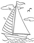 Ships Coloring Page for your Little Ones