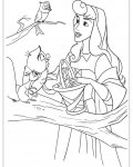 Sleeping Beauty Coloring page template printing