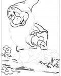 Snow White Tracing Coloring Page for kids