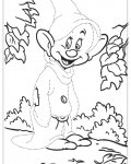 Snow White Free Tracing Coloring Page