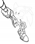 Sonic X Tracing Coloring Page for kids
