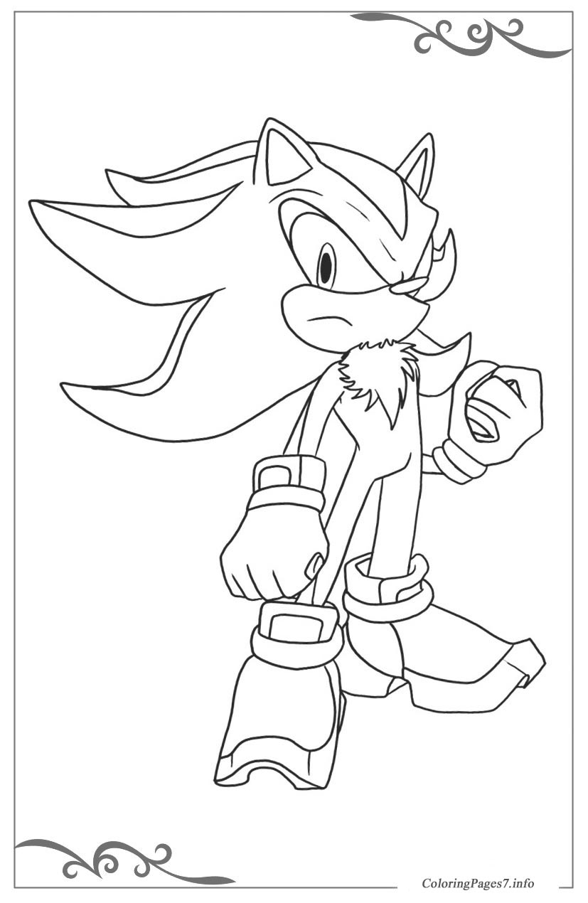 Sonic x online coloring pages for boys for Coloring pages for boys online