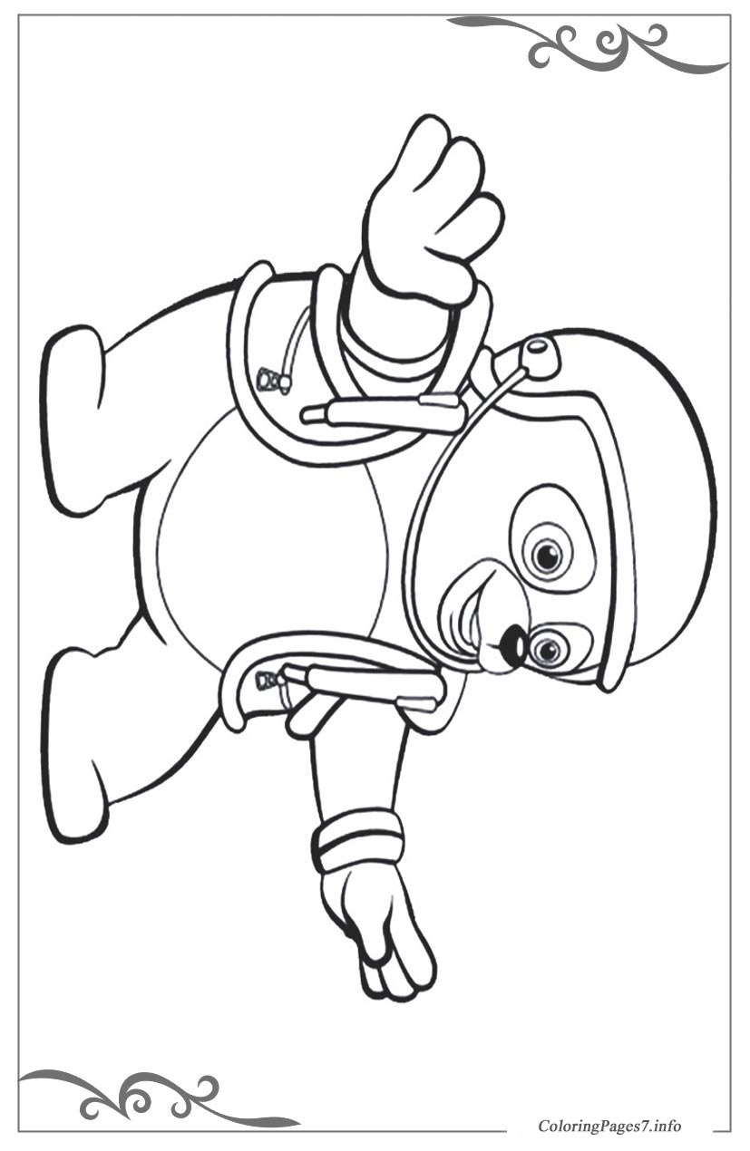 Agent OSO in treining coloring pages for kids, printable free ... | 1270x827