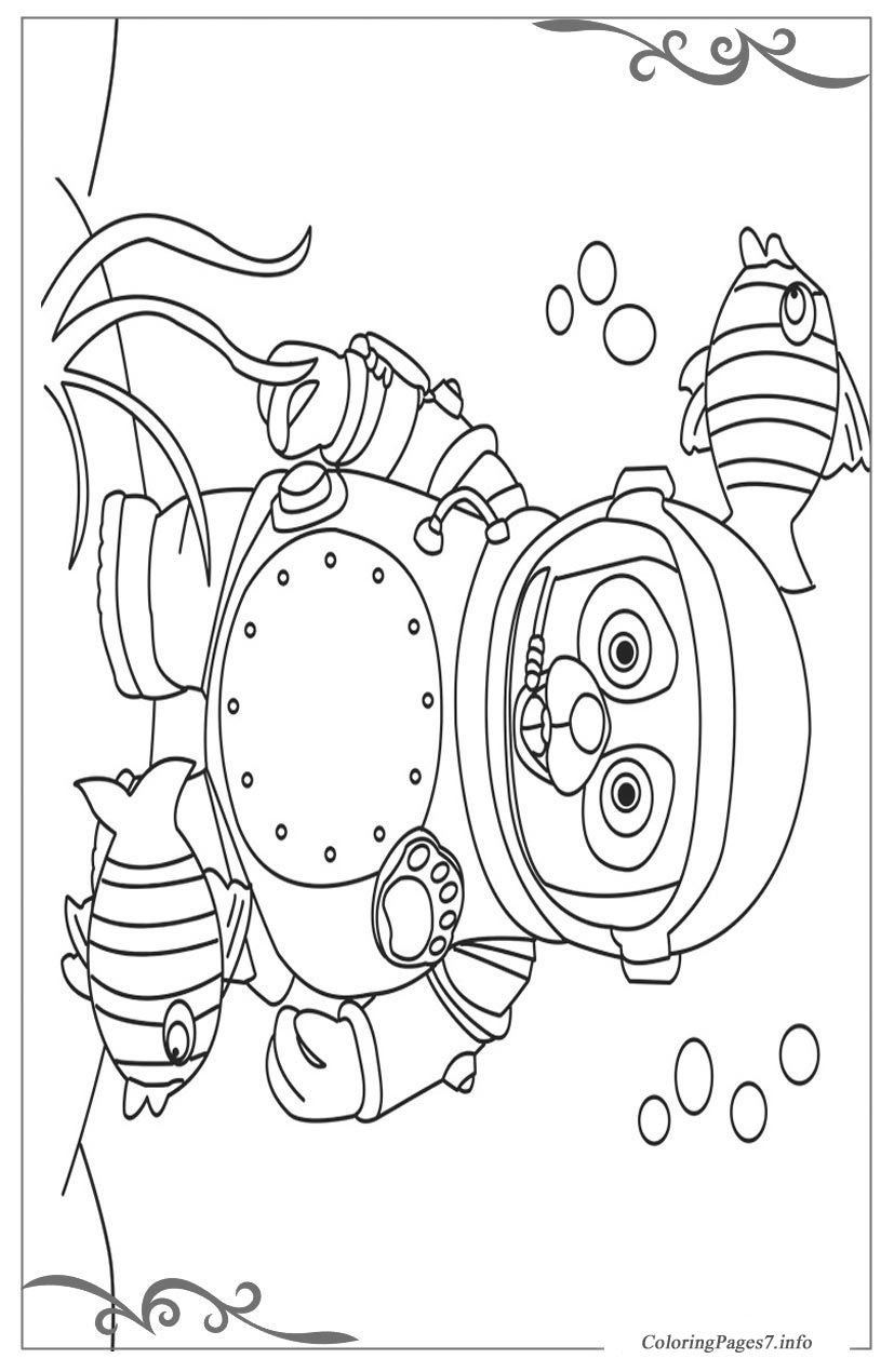 Special Agent Oso Free printable coloring pages for children