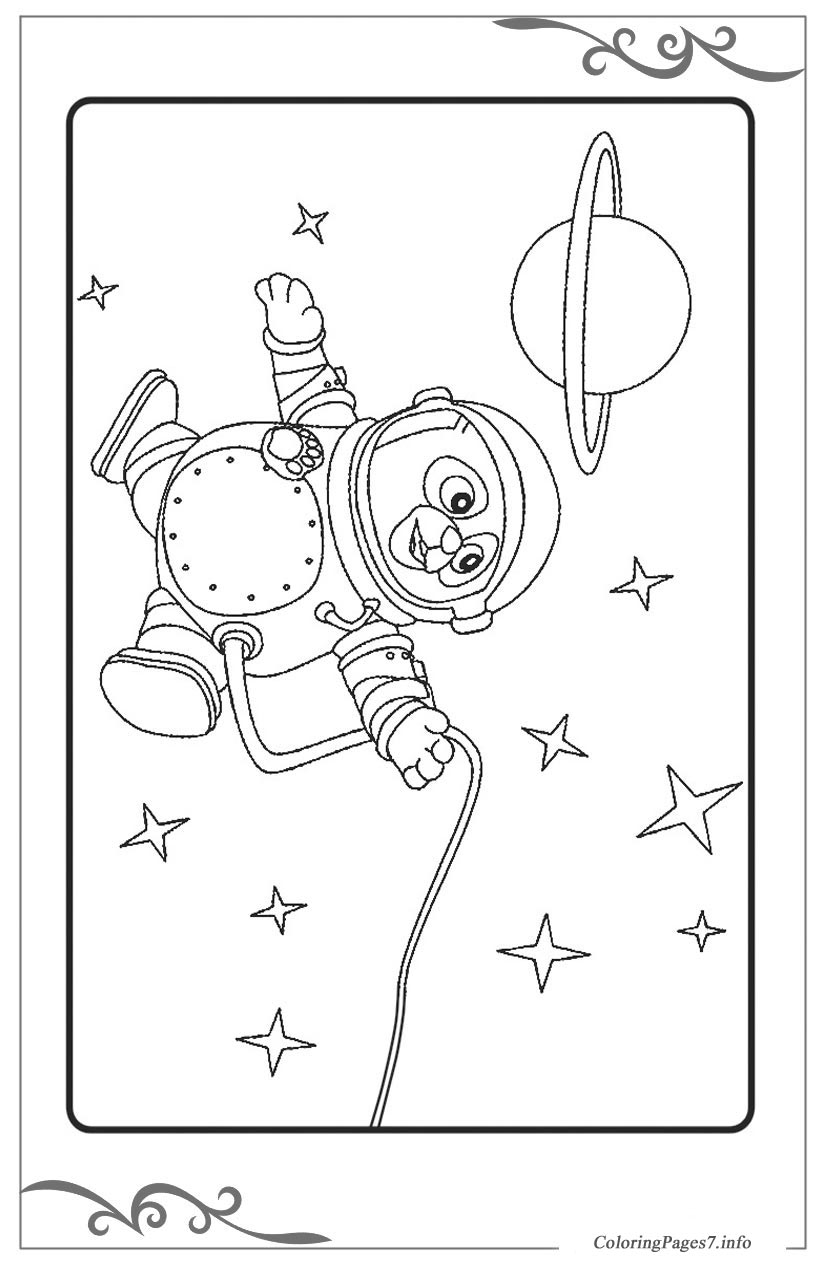 Special Agent Oso Free coloring page template printing