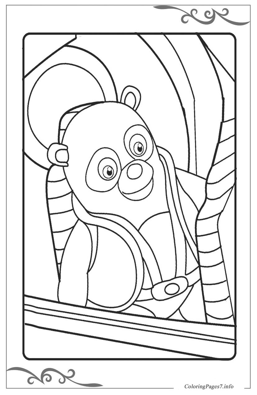 Special Agent Oso Download free coloring pages for kids