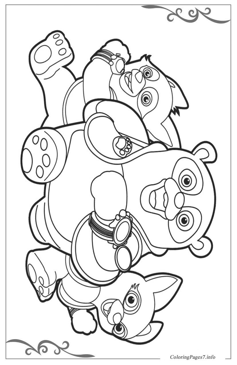 Special Agent Oso Download coloring pages for kids