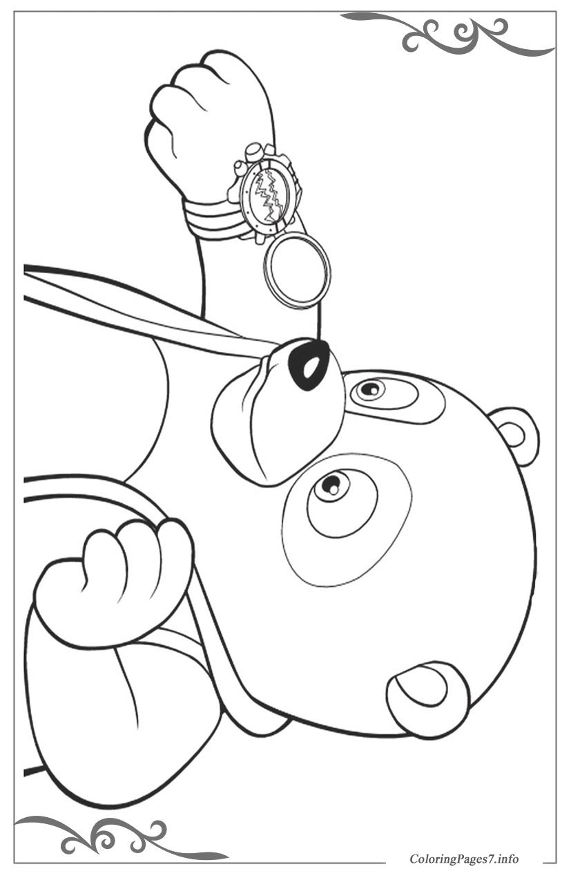 Special Agent Oso Download and print free coloring pages for kids