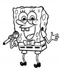 SpongeBob SquarePants Printable coloring pages for girls