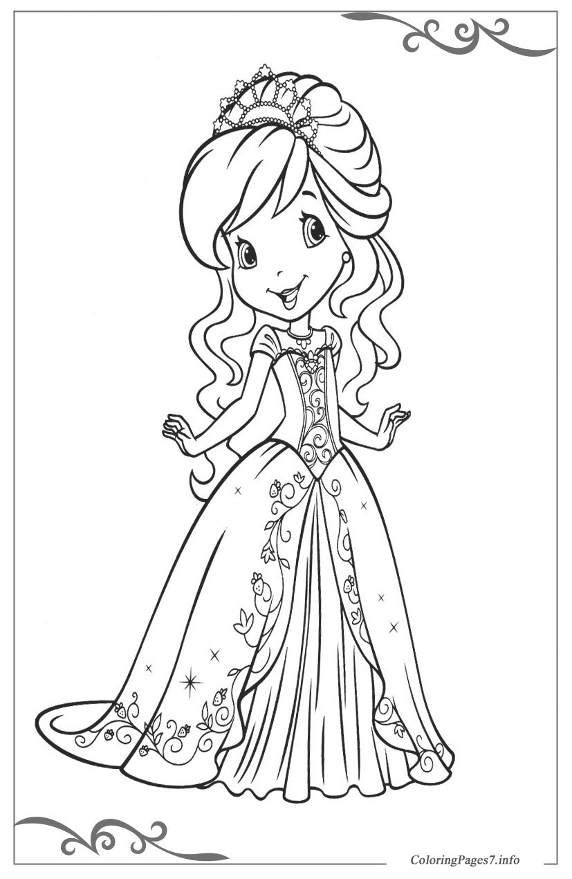 Free Strawberry Shortcake Coloring Pages - Coloring Home | 1270x827