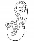 Strawberry Shortcake Coloring Page for your Little Ones