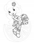 Strawberry Shortcake Free Tracing Coloring Page