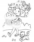 Strawberry Shortcake Printable Tracing Coloring Page