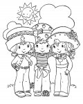 Strawberry Shortcake Online Coloring Pages for girls