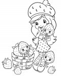 Strawberry Shortcake Download and print coloring pages for kids
