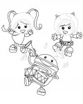 Team Umizoomi Tracing Coloring Page for kids