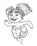 The Croods Online Coloring Pages for girls