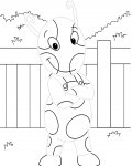 The Backyardigans Tracing Coloring Page for kids