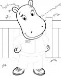 The Backyardigans Free Tracing Coloring Page