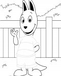 The Backyardigans Printable Tracing Coloring Page