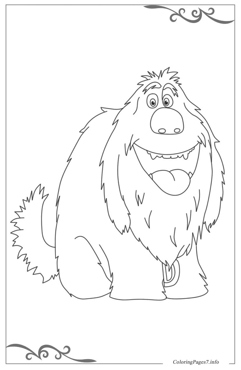 The secret life of pets free coloring pages for girls for Secret life of pets printable coloring pages