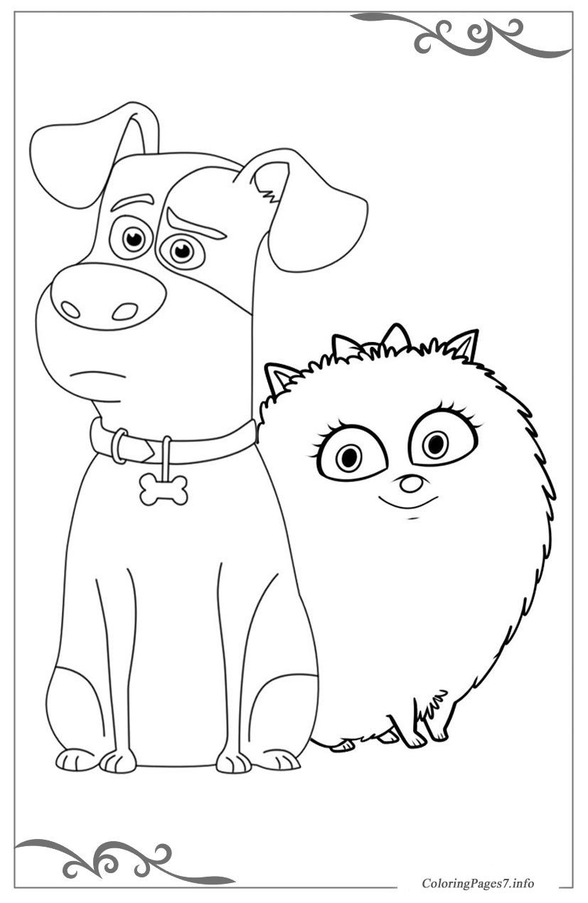 The secret life of pets online coloring pages for girls for Secret life of pets printable coloring pages