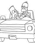 The Simpsons Coloring Page for your Little Ones
