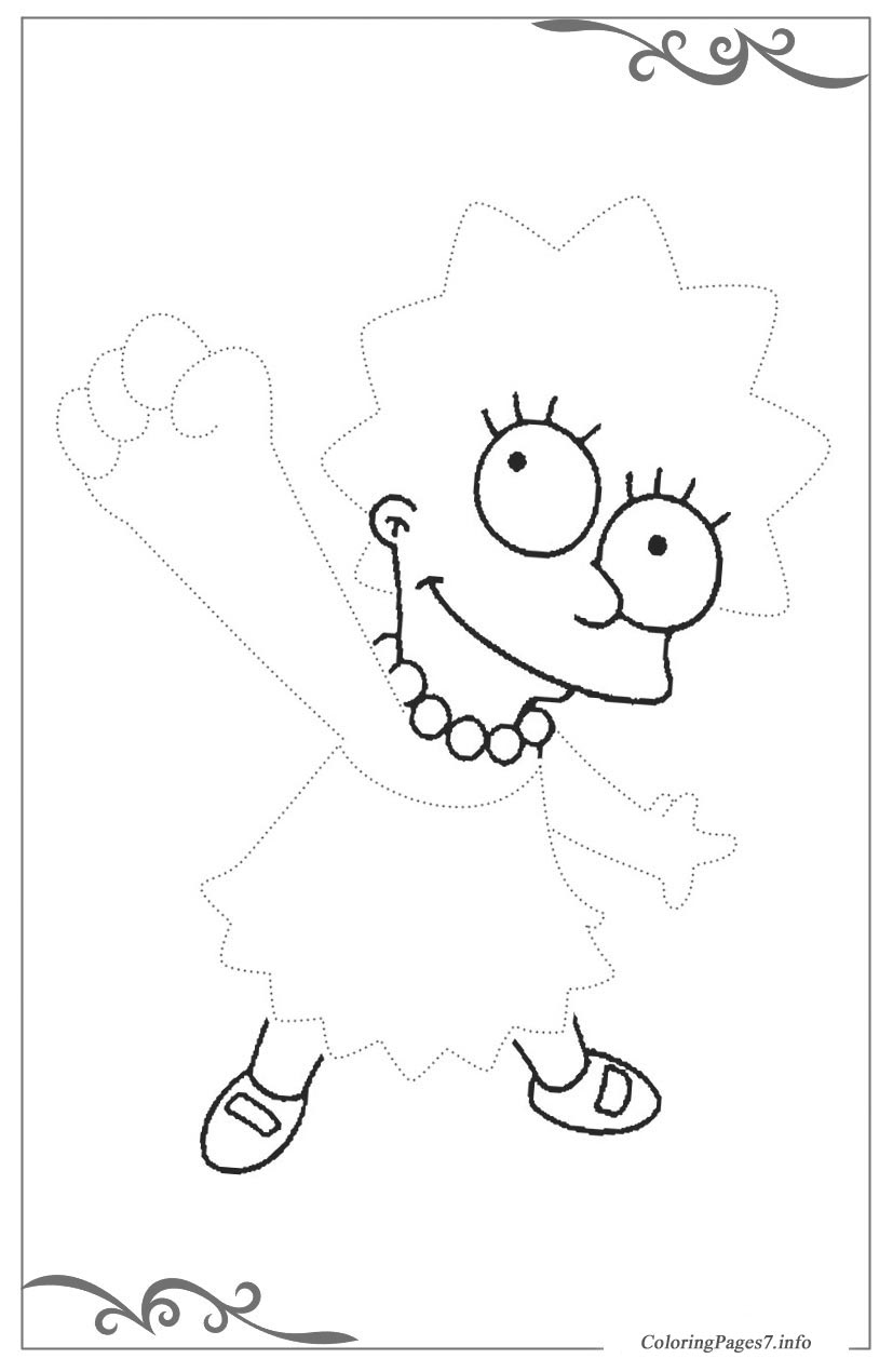 The Simpsons Tracing Coloring Page