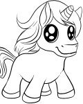 Unicorns Printable coloring pages for girls