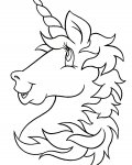 Unicorns Free printable coloring pages