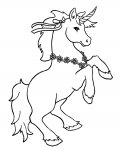 Unicorns Coloring page template printing