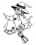 Witches Printable Coloring Pages