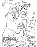 Witches Printable coloring pages for girls