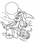 Witches Free printable coloring pages