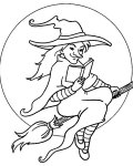 Witches Coloring Pages for Kids