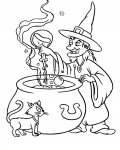 Witches Download coloring pages