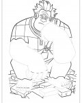 Wreck-It Ralph Tracing Coloring Page for kids